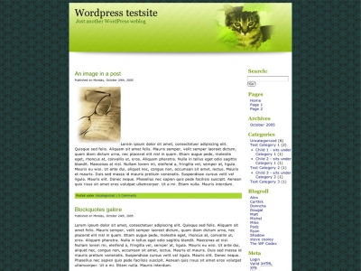 Green Apple Wordpress Theme